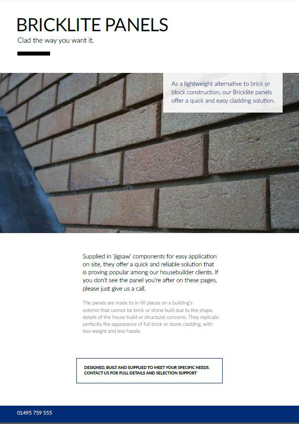Bricklite Cladding Panels