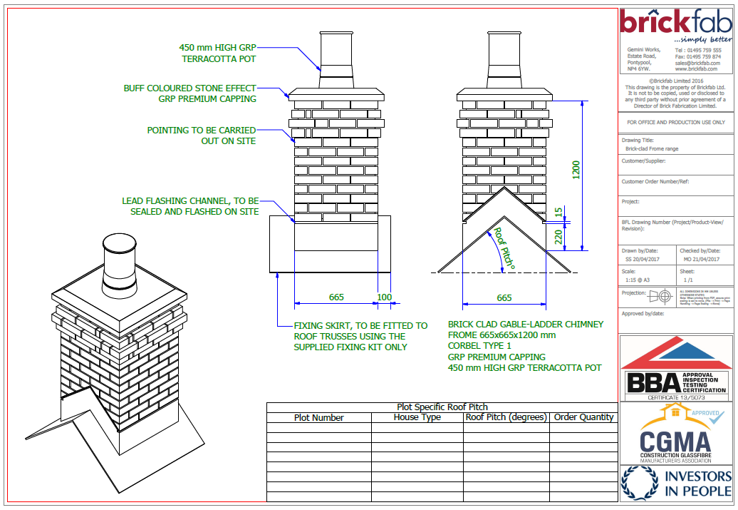 Brick Clad Chimneys