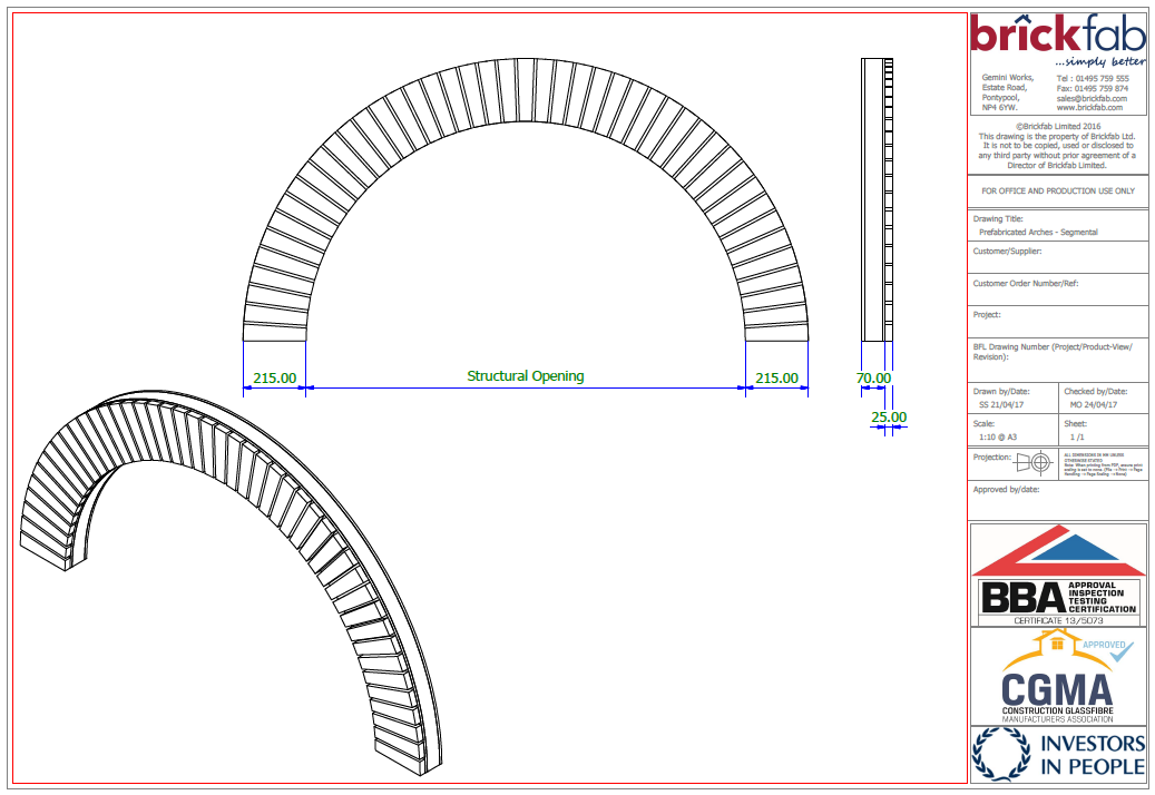 PREFABRICATED ARCHES
